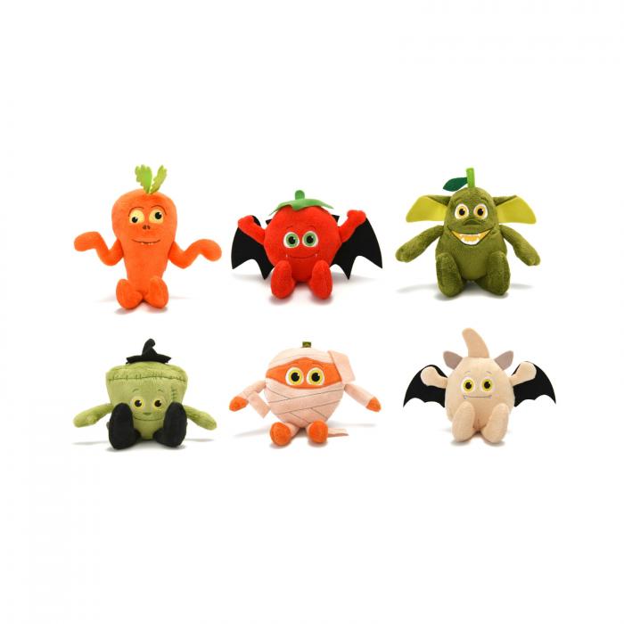 Misfits, set 6 figurine din plus, legume si fructe, 11 cm [0]