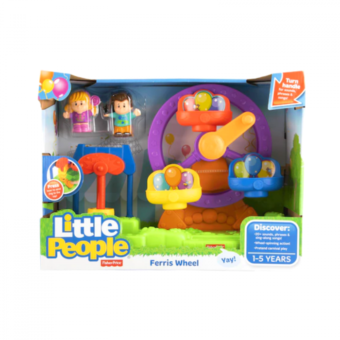 Set de joaca Little People Ferris Wheel cu sunete, Fisher-Price 1