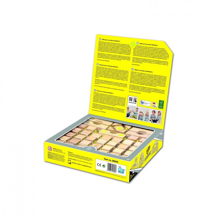 Docklets, cuburi din lemn cu velcro, set Arhitectura, 42 piese 1