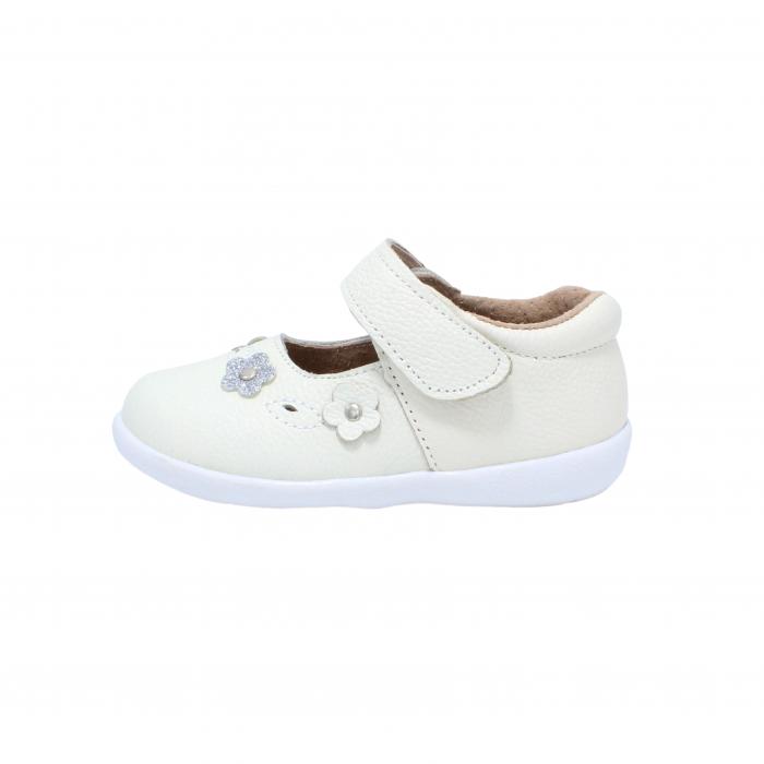 Pantofi din piele Happy Bee, model 142544, alb, 19-24 EU 0