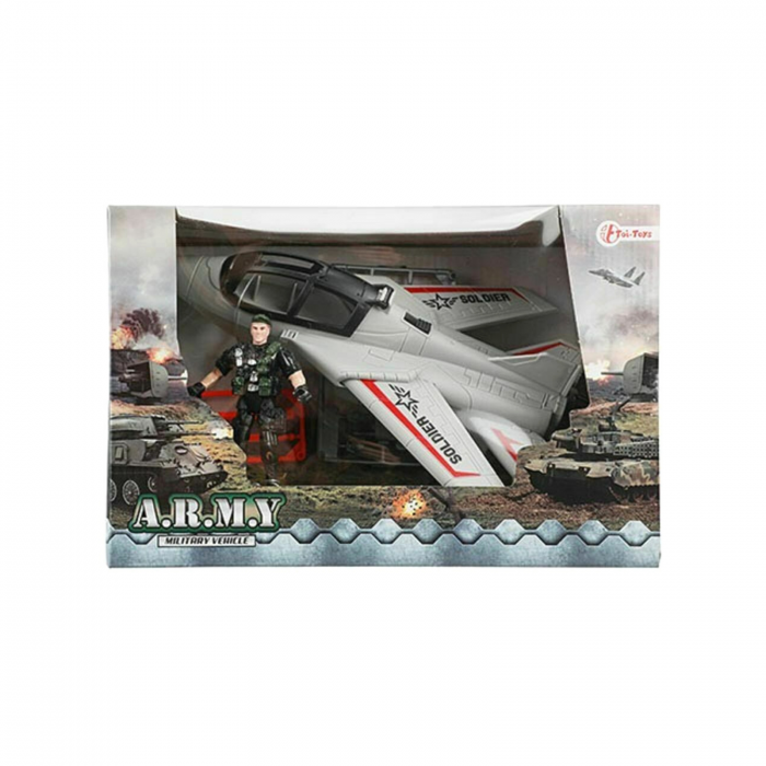 Avion militar cu figurina si accesorii A.R.M.Y 3