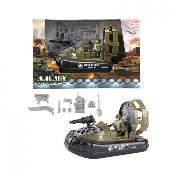 Barca militara cu figurina si accesorii A.R.M.Y 1