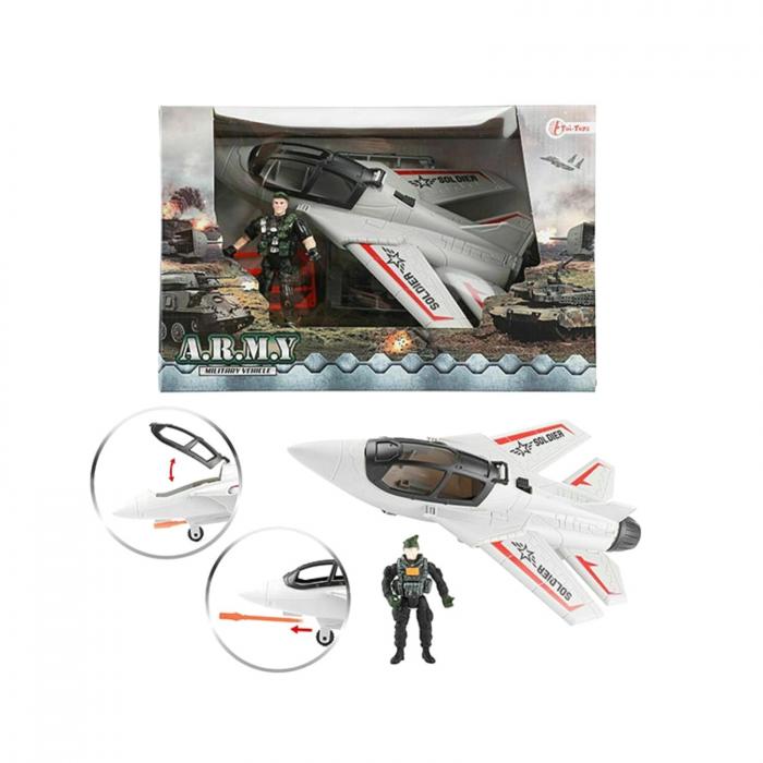 Avion militar cu figurina si accesorii A.R.M.Y 4