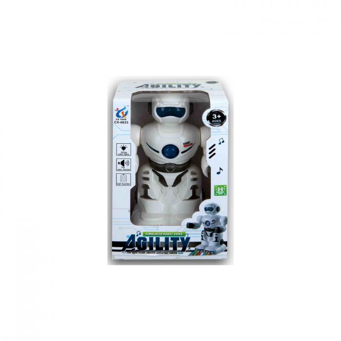 Robot cu lumina si sunete, 18 cm 1