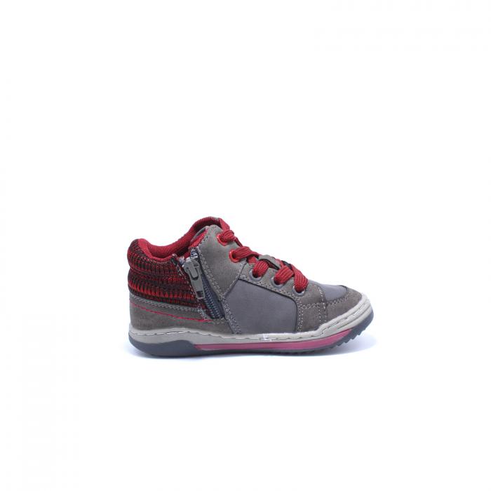 Sneaker baieti, Sprox 372722, gri-burgundy, 20-25 EU 1