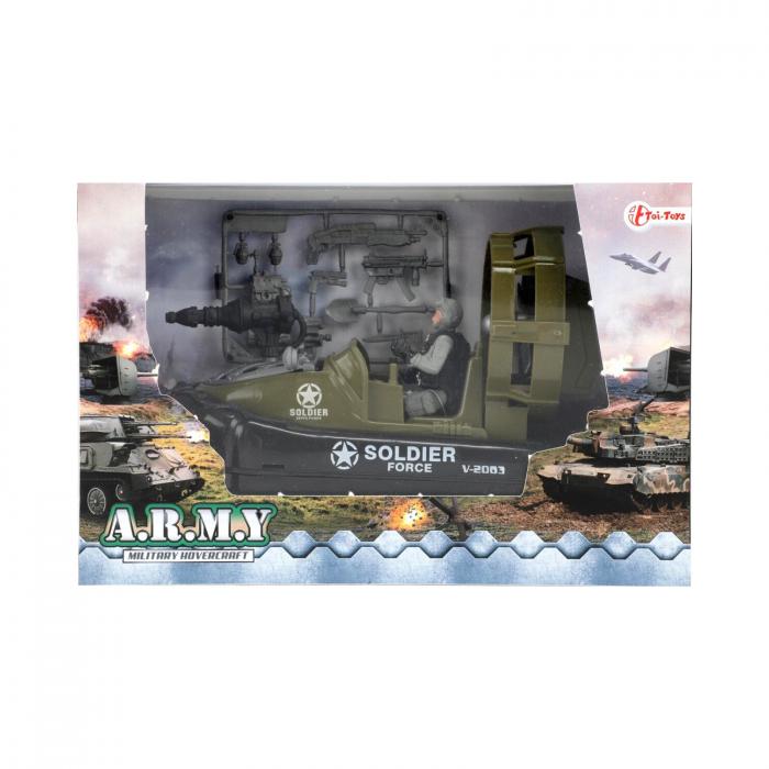 Barca militara cu figurina si accesorii A.R.M.Y 2