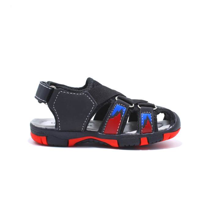 Sandale sport baieti Happy Bee, model 141880 negru/rosu, 20-25 EU 2