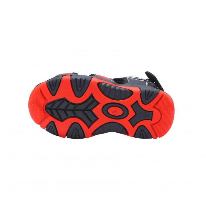 Sandale sport baieti Happy Bee, model 141880 negru/rosu, 20-25 EU 3