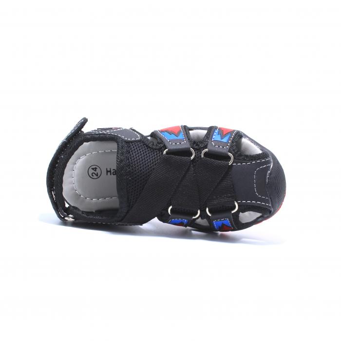 Sandale sport baieti Happy Bee, model 141880 negru/rosu, 20-25 EU 4