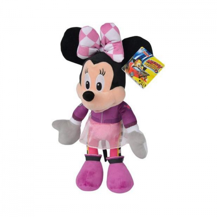 Jucarie de plus Minnie pilot de curse 25 cm, Disney Roadster Racers 0