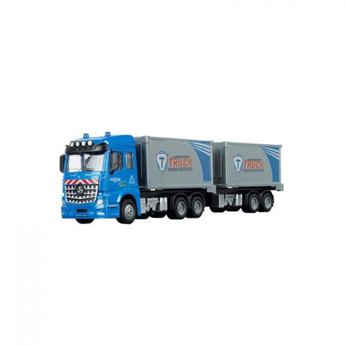 Camion Eurocombi Trailer de jucarie la scara 1:43, 30 cm 0
