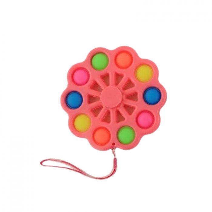 Jucarie senzoriala Pop It, simple dimple spinner, 15 cm [0]