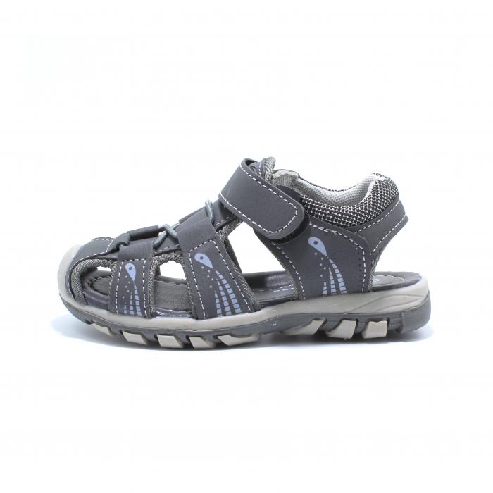 Sandale baieti Happy Bee, model 143090 gri inchis, 25-30 EU 0