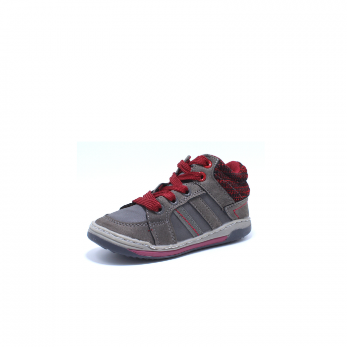 Sneaker baieti, Sprox 372722, gri-burgundy, 20-25 EU 2
