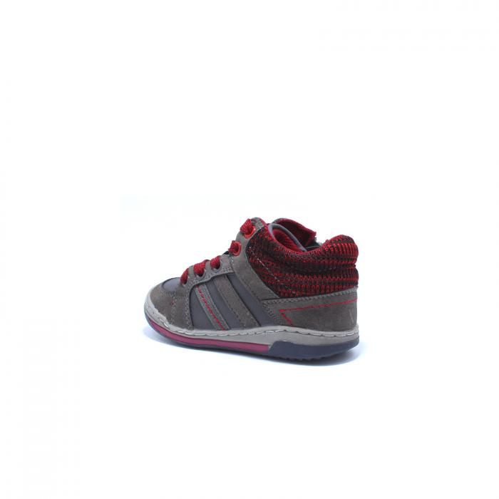 Sneaker baieti, Sprox 372722, gri-burgundy, 20-25 EU 3