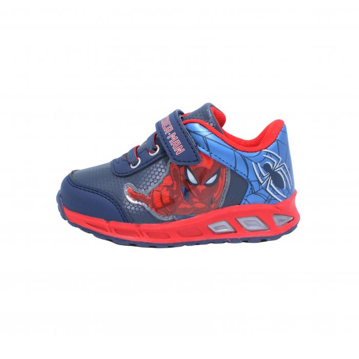 Pantofi sport cu luminite Spiderman, model 8875 navy-rosu, 25-33 EU 0