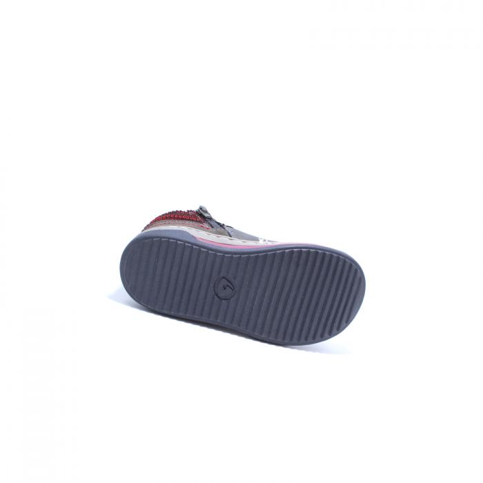 Sneaker baieti, Sprox 372722, gri-burgundy, 20-25 EU 4