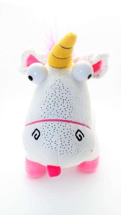 Fluffy Unicorn 34cm S3 Glitter 1