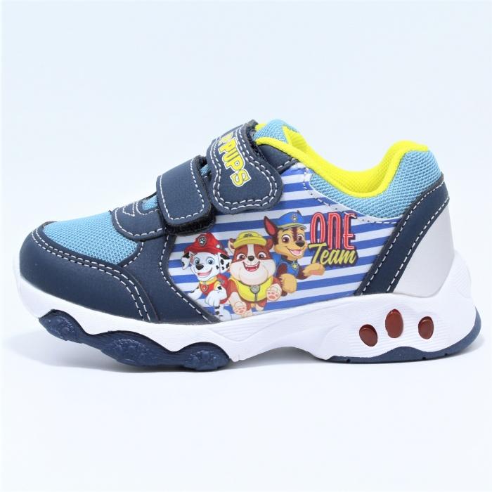 Pantofi sport cu luminite, licenta Paw Patrol (Patrula Catelusilor) 1