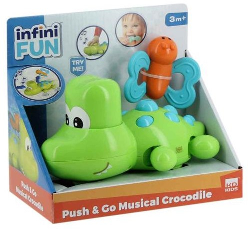 Crocodil muzical Push & Go, Infini Fun 1