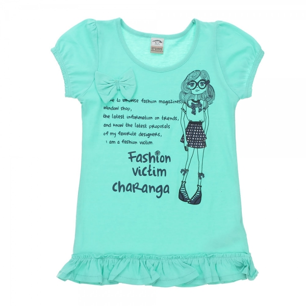 Tricou/Top fete Charanga, vernil, 8-9 ani 0