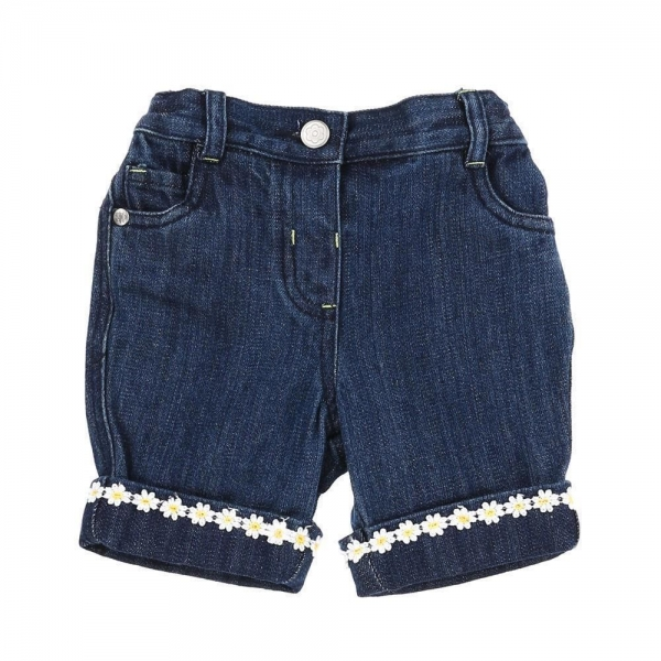 Pantaloni scurti fete, brand George, denim, 2-5 ani [0]