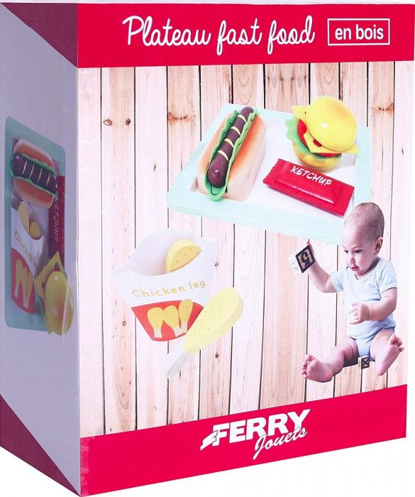Tava cu mancare fast food din lemn, Ferry Jouets [1]