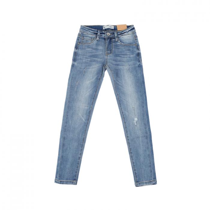 Blugi fete Mini Mignon, Bleu skinny DN030, 6-16 ani 0