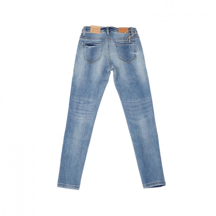 Blugi fete Mini Mignon, Bleu skinny DN030, 6-16 ani 1