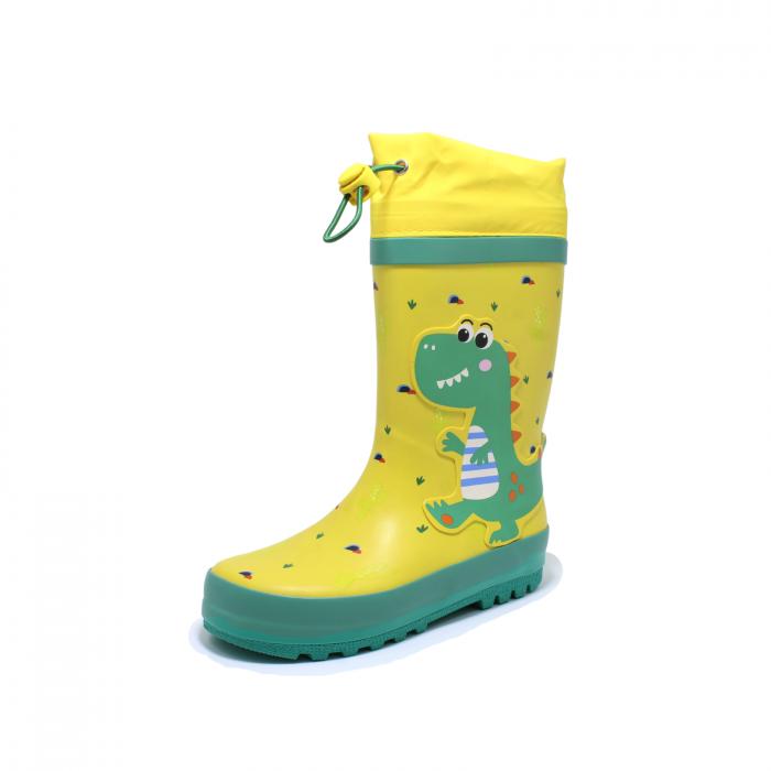 Cizme de ploaie pentru copii, Dino, galben-verde, 28-35 EU [2]