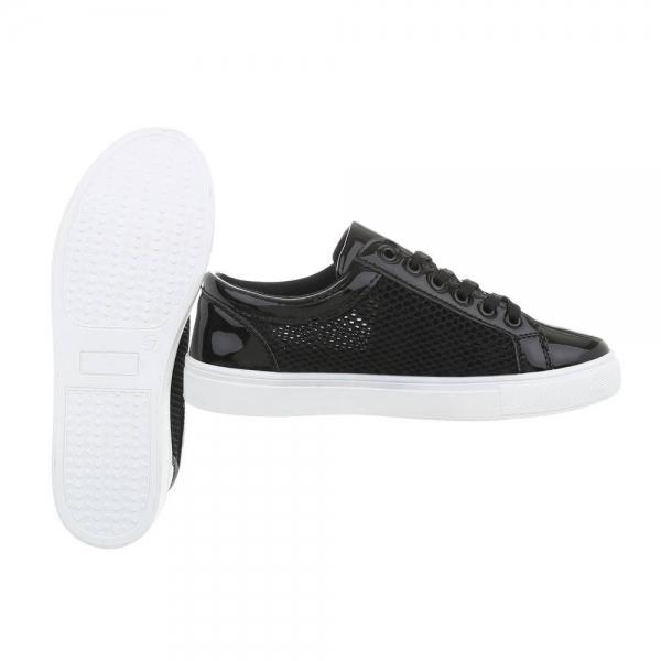 Pantof negru timp liber/leisure de vara pentru femei 2