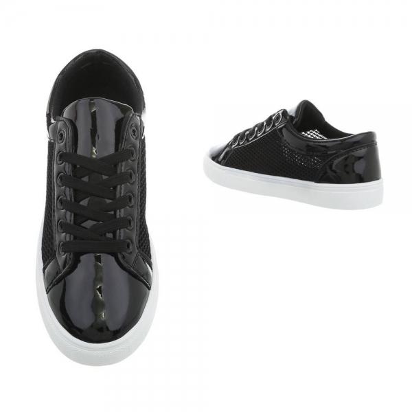 Pantof negru timp liber/leisure de vara pentru femei 1