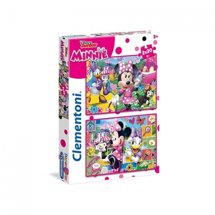 Set 2 puzzle Disney Minnie Supercolor, Clementoni 0