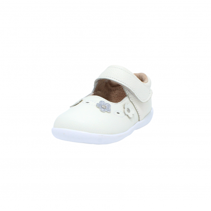 Pantofi din piele Happy Bee, model 142544, alb, 19-24 EU 2