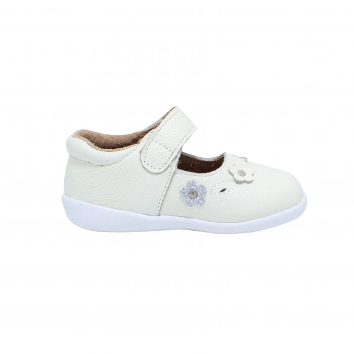 Pantofi din piele Happy Bee, model 142544, alb, 19-24 EU 1