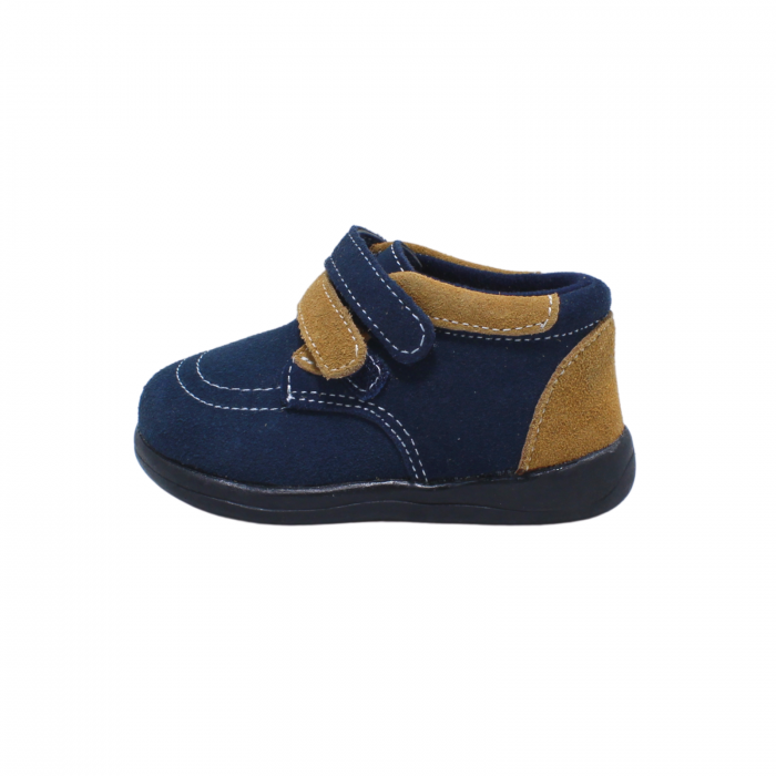 Pantofi din piele intoarsa 19-24 EU, culoare navy, 182144 Happy Bee 1