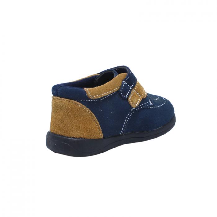 Pantofi din piele intoarsa 19-24 EU, culoare navy, 182144 Happy Bee 4