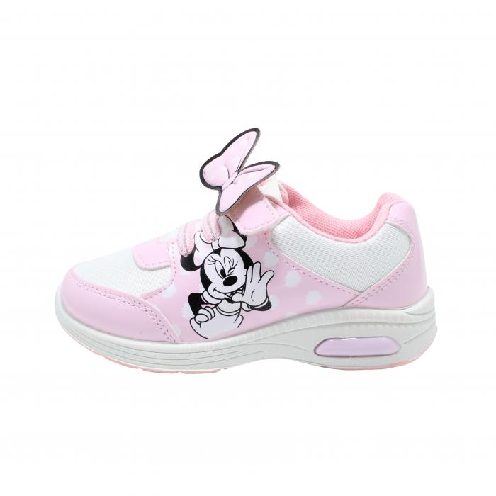Pantofi sport cu luminite, Minnie Mouse, model 5129, alb/roz, 24-32 EU 0