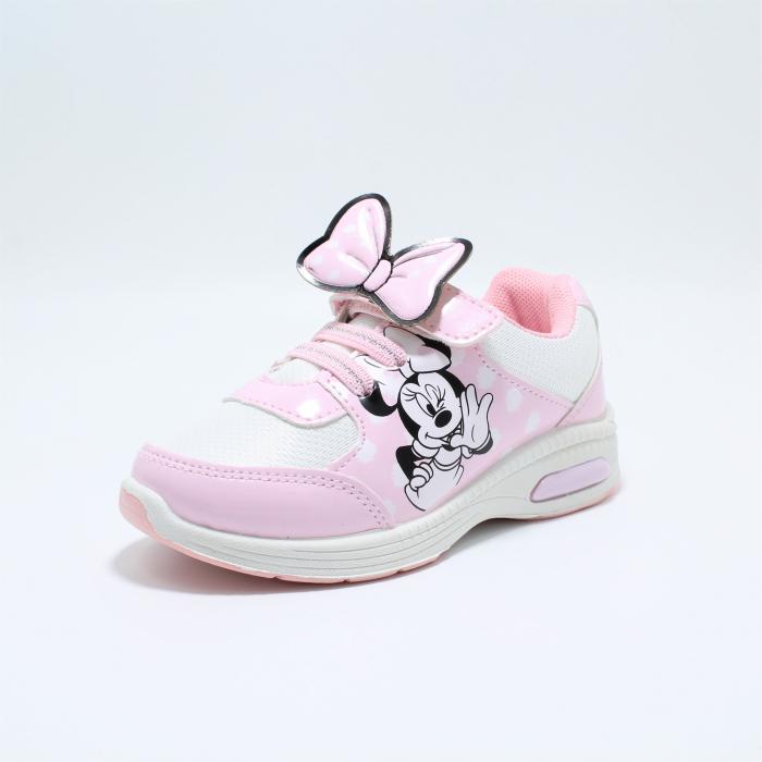 Pantofi sport cu luminite, Minnie Mouse, model 5129, alb/roz, 24-32 EU 1