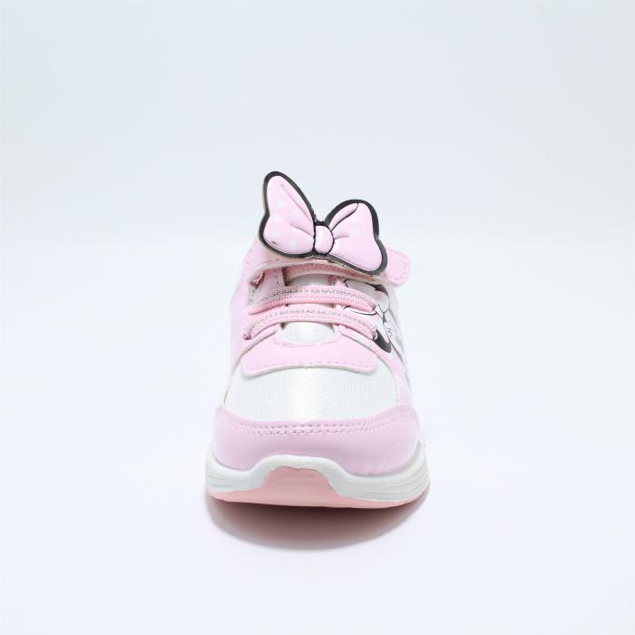 Pantofi sport cu luminite, Minnie Mouse, model 5129, alb/roz, 24-32 EU 3