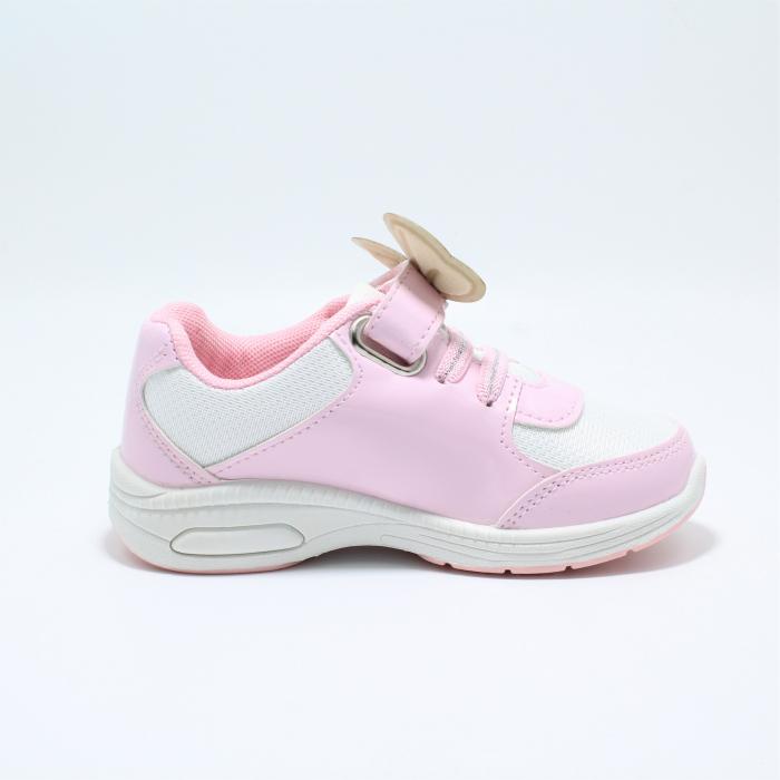 Pantofi sport cu luminite, Minnie Mouse, model 5129, alb/roz, 24-32 EU 2