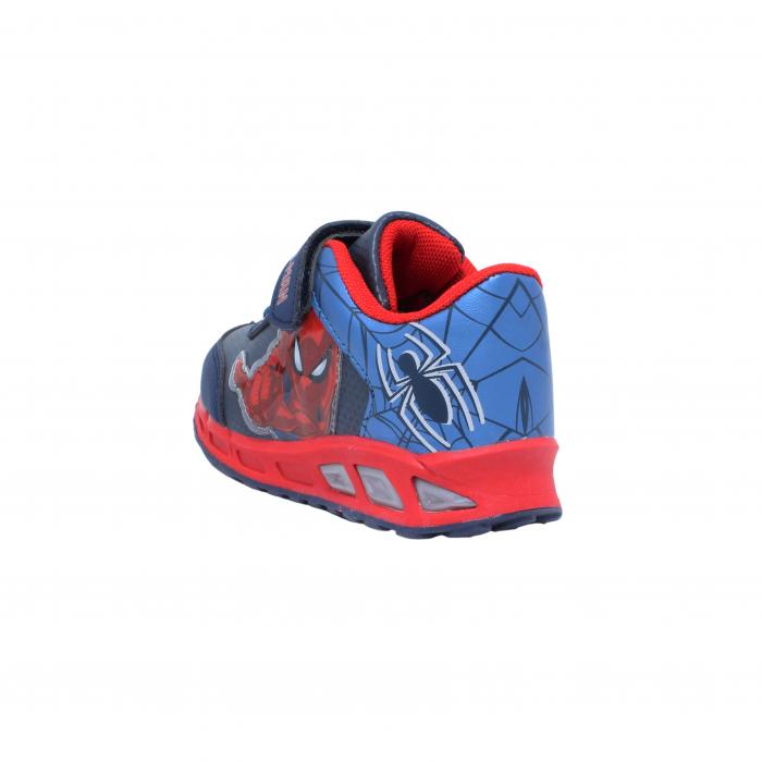 Pantofi sport cu luminite Spiderman, model 8875 navy-rosu, 25-33 EU 3