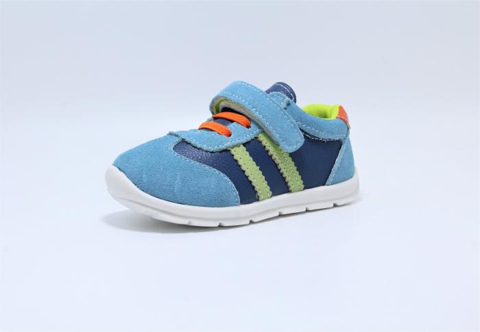 Pantofi sport din piele Happy Bee, model 142054, pentru baieti 19-24 EU 1