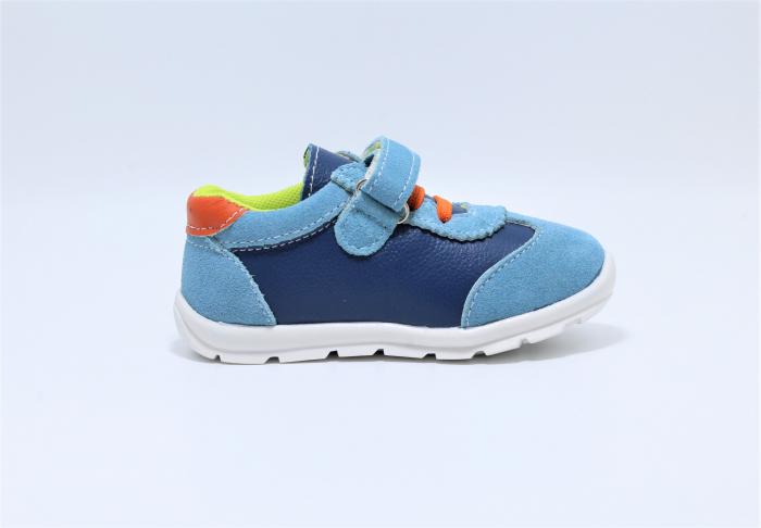 Pantofi sport din piele Happy Bee, model 142054, pentru baieti 19-24 EU 2