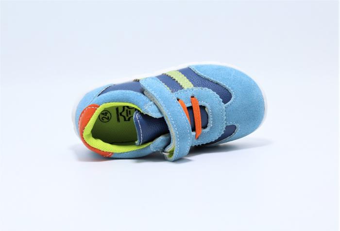 Pantofi sport din piele Happy Bee, model 142054, pentru baieti 19-24 EU 3