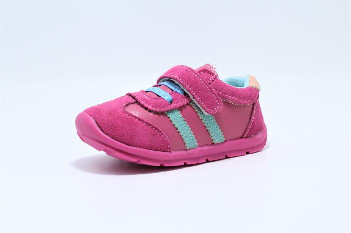Pantofi sport din piele Happy Bee, model 142055, pentru fete 19-24 EU 1