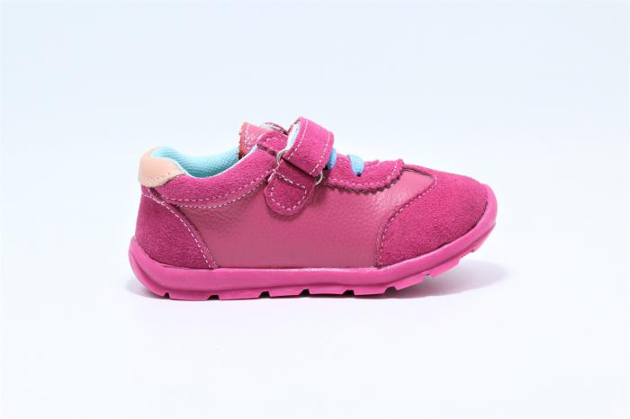Pantofi sport din piele Happy Bee, model 142055, pentru fete 19-24 EU 2