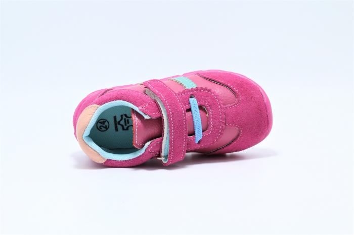 Pantofi sport din piele Happy Bee, model 142055, pentru fete 19-24 EU 3