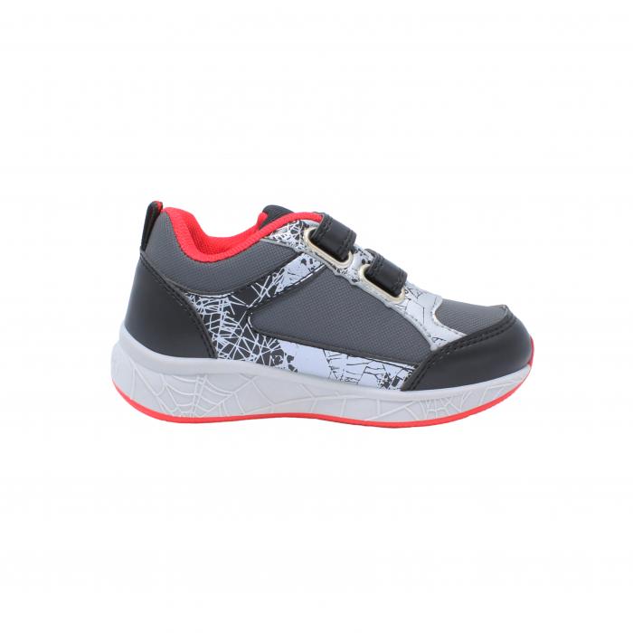 Pantofi sport Spiderman, model 8840 negru-gri, 25-33 EU 2