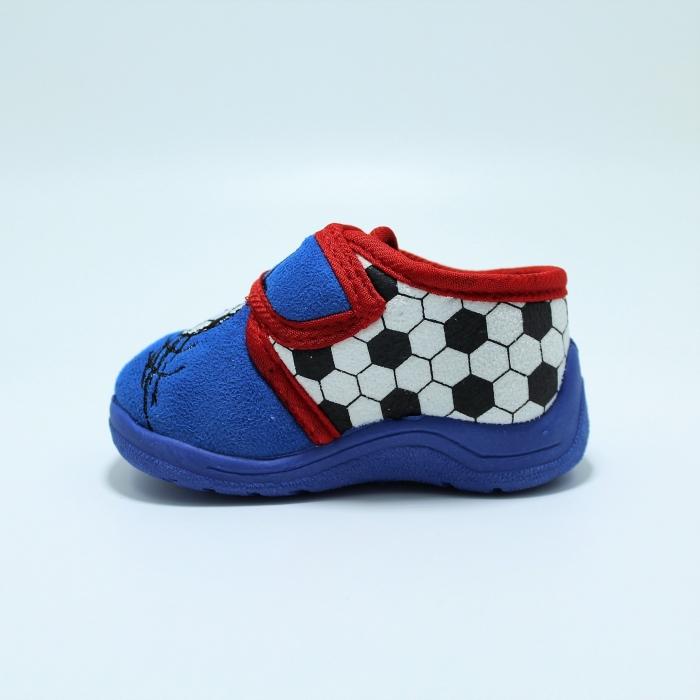 Papuci interior baieti, model Fotbal585, albastru sau gri, marimi 19-27 [2]